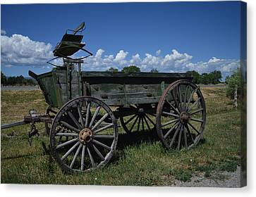 Old Wagon  Canvas Print by Jeff Swan