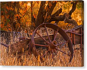 Old Wagon Wheel Canvas Print by Marc Crumpler