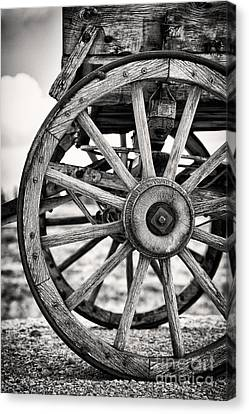 Old Wagon Wheels Canvas Print by Jane Rix