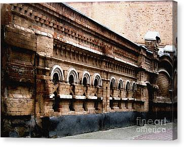 Canvas Print featuring the pyrography Old Wall 2 by Evgeniy Lankin