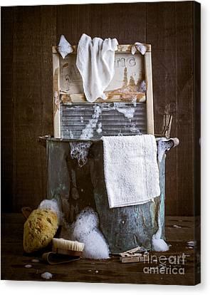 Sponged Canvas Print - Old Wash Tub by Edward Fielding