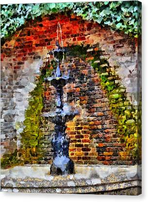 Gatlinburg Tennessee Canvas Print - Old Water Fountain by Dan Sproul