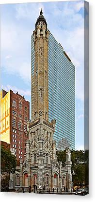 Old Water Tower Chicago Canvas Print