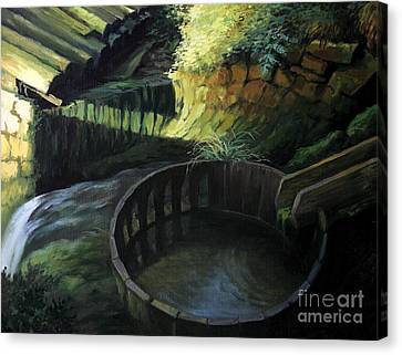 Old Watermill Canvas Print by Kiril Stanchev