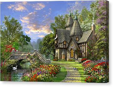 Pathway Canvas Print - Old Waterway Cottage by Dominic Davison