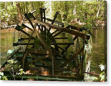 Old Waterwheel Canvas Print by Cathy Harper