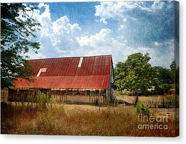 Farm Canvas Print - Old Weathered Barn Indiana by Amy Cicconi