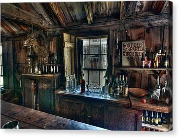 Miners Ghost Canvas Print - Old West Bar - Criterion Saloon by Daniel Hagerman