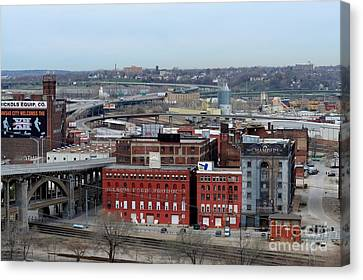 Old West Bottoms Kcmo Canvas Print by Liane Wright