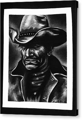Old West Cowboy Canvas Print by Sheena Pape