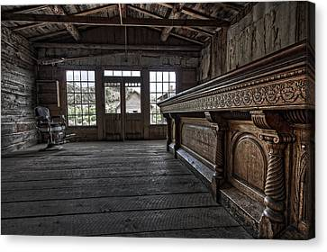 Miners Ghost Canvas Print - Old West Saloon Bar -- Bannack Ghost Town Montana by Daniel Hagerman