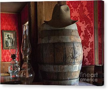 Oil Lamp Canvas Print - Old West Saloon by Juli Scalzi