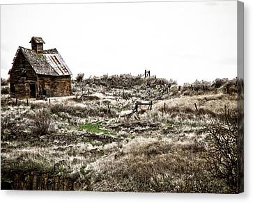 Old West School  Canvas Print by Steve McKinzie