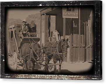 Old West Stagecoach Canvas Print