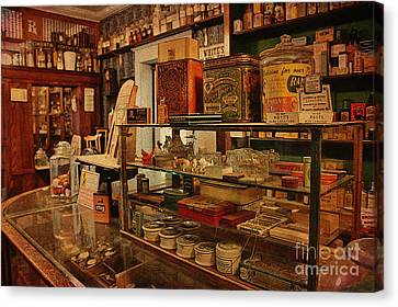 Old Western General Store Counter Canvas Print by Janice Rae Pariza