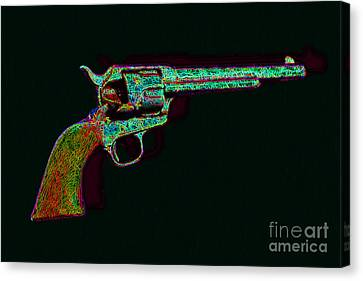 Old Western Pistol - 20130121 - V1 Canvas Print by Wingsdomain Art and Photography