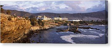 Old Whaling Station On The Coast Canvas Print by Panoramic Images