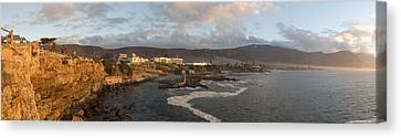 Old Whaling Station With A Town Canvas Print by Panoramic Images