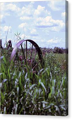 Old Wheel  Canvas Print