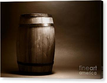 Old Whisky Barrel Canvas Print
