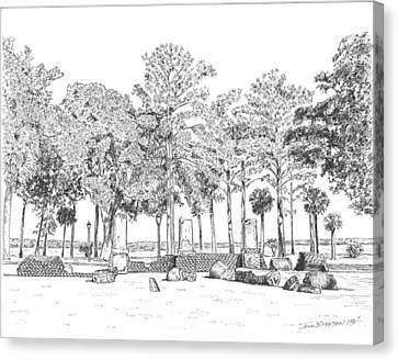 Old Wilson Plantation Ruins Canvas Print by John Hopson
