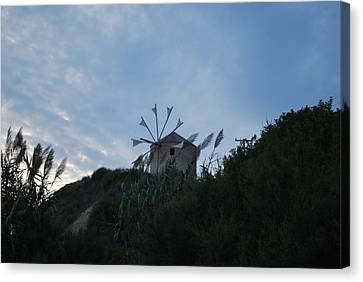 Old Wind Mill 1830 Canvas Print by George Katechis