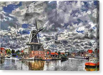 Old Windmill On The Shore Canvas Print by Maciek Froncisz