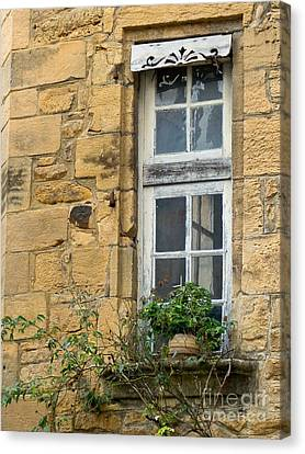 Canvas Print featuring the photograph Old Window In France by Paul Topp