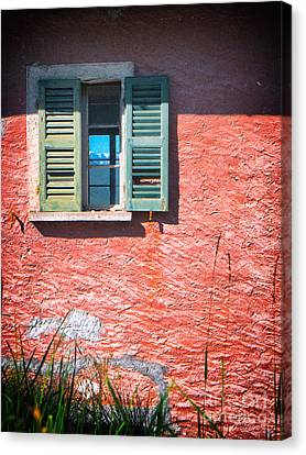 Canvas Print featuring the photograph Old Window With Reflection by Silvia Ganora