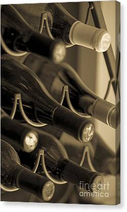 Old Wine Bottles Canvas Print by Diane Diederich