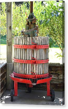 Tasting Canvas Print - Old Wine Press by Barbara Snyder