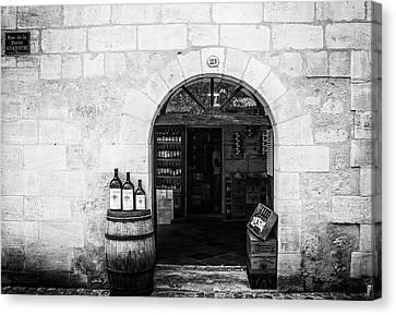 Tasting Canvas Print - Old Wine Shop by Georgia Fowler