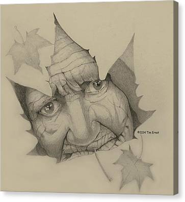 Old Woman Leaf  Canvas Print
