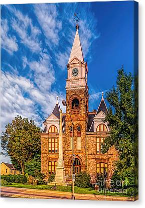 Old Woodbury Courthouse Canvas Print
