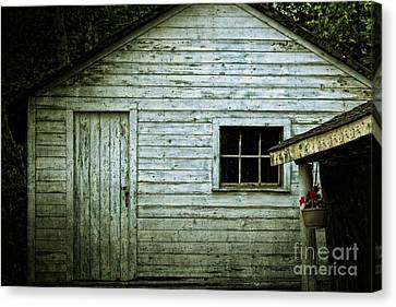 Old Wooden Building Onaping Canvas Print by Marjorie Imbeau