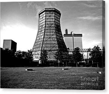 Old Wooden Cooling Tower Canvas Print by Andy Prendy