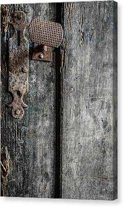 Old Wooden Door Canvas Print by Marco Oliveira
