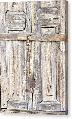 Panel Door Canvas Print - Old Wooden Doorway by Tom Gowanlock