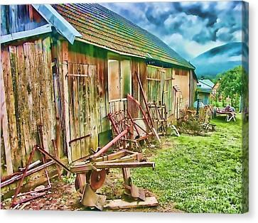 Old Wooden Shed Canvas Print by Roman Milert