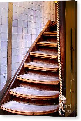 Old Wooden Stairs Canvas Print