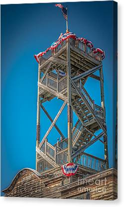 Old Wooden Watchtower Key West - Hdr Style Canvas Print