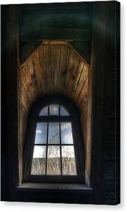 Old Wooden Window Canvas Print by Nathan Wright