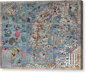 Old World Art Map  Canvas Print by Inspired Nature Photography Fine Art Photography
