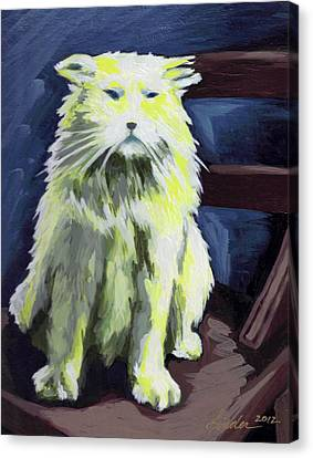 Old World Cat Canvas Print