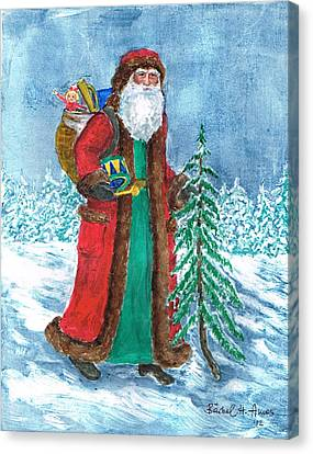 Old World Father Christmas4 Canvas Print by Barbel Amos
