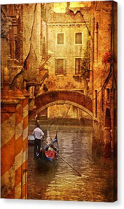 Old World Gondola Canvas Print by Greg Sharpe