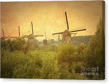 Old World Windmills Canvas Print