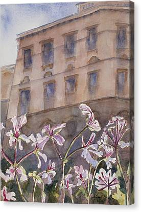 Old World Windowbox Canvas Print by Mary Benke