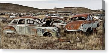 Old Wrecks Canvas Print