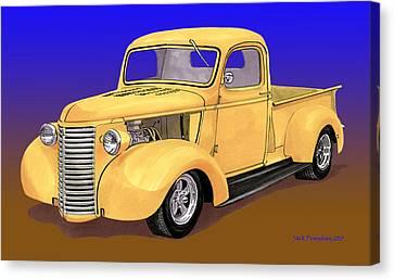 Old Yeller Pickem Up Truck Canvas Print by Jack Pumphrey